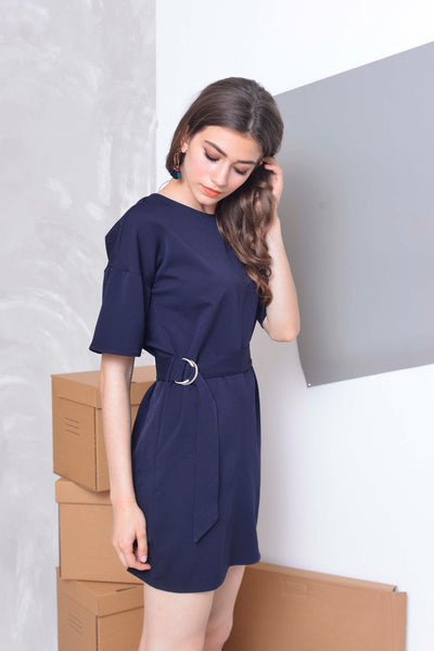 Basics-Aster Dress in Navy