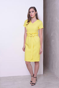 COLLECTIONS-Bershka Dress in Yellow