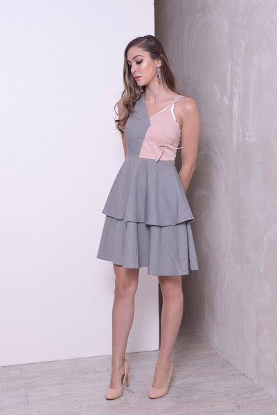 Avery Dress in Grey-Pink