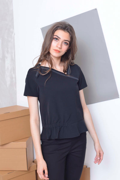 [FREE]Collections-Oliver Top in Black
