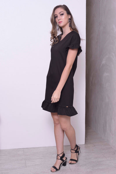 BASICS-Adaline Dress in Black