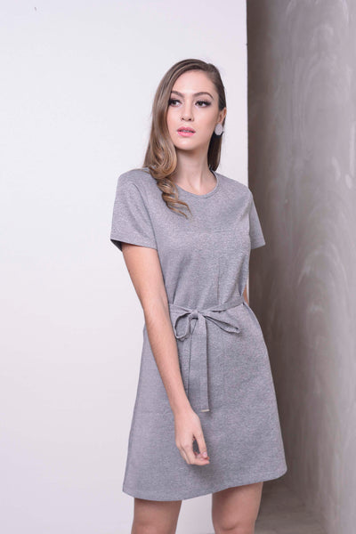 BASICS-Klara Dress in Grey