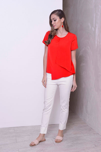 COLLECTIONS-Alena Top in  Red