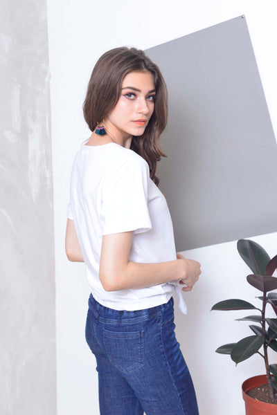 Casual Tee in White