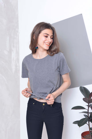 Casual Tee in Grey