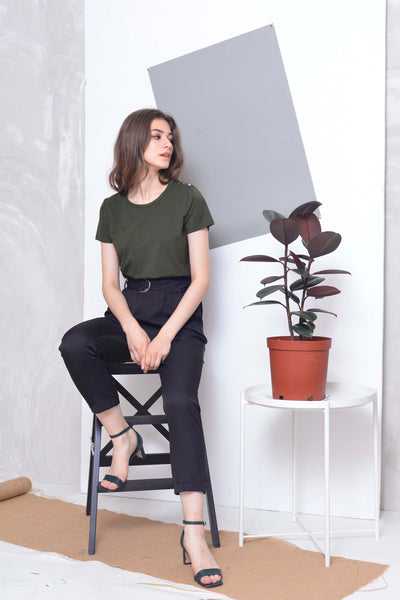 Casual Tee in Army.Green