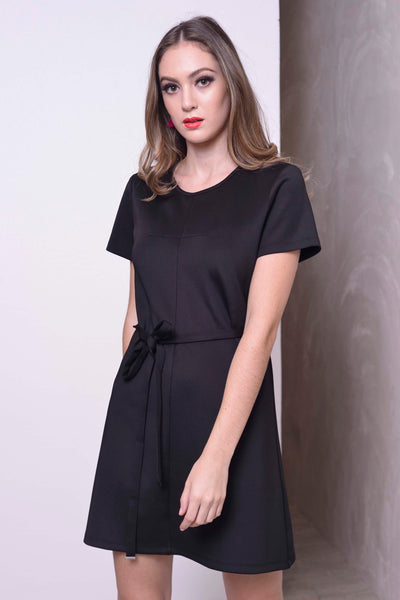 BASICS-Klara Dress in Black