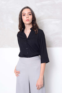 Basics-Essential strips prints shirts in black