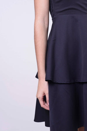 Avery Dress in Navy-Khaki