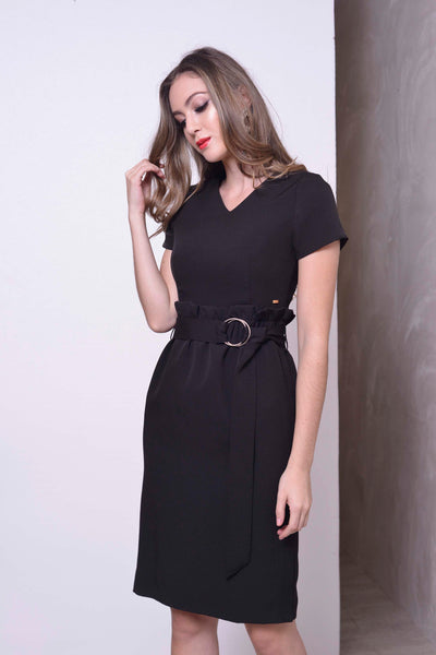 COLLECTIONS-Bershka Dress in Black