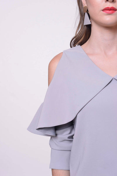 COLLECTIONS-Tasya Crop Top in Grey
