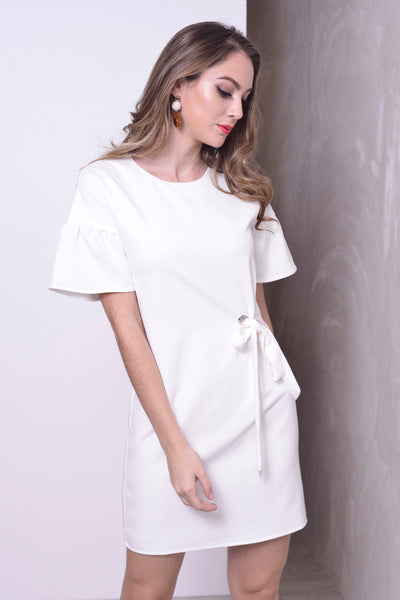 BASICS-Marea Dress in White