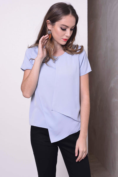 COLLECTIONS-Alena Top in Light blue