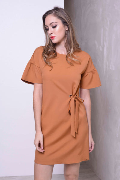 BASICS-Marea Dress in Brown