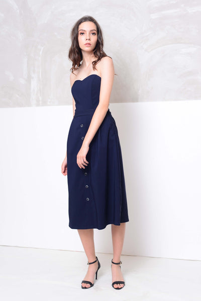 [BUY]Collection- Midi length tube dress in navy