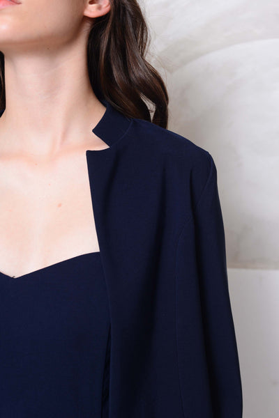 Collection- Short structured coat in navy