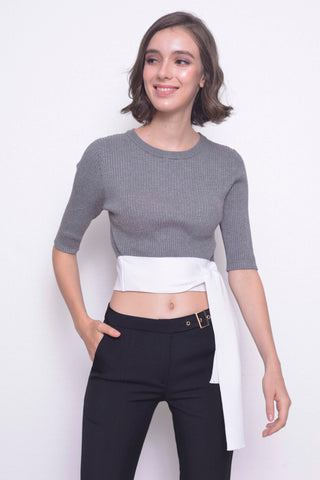KNIT-Denisa Top in Grey