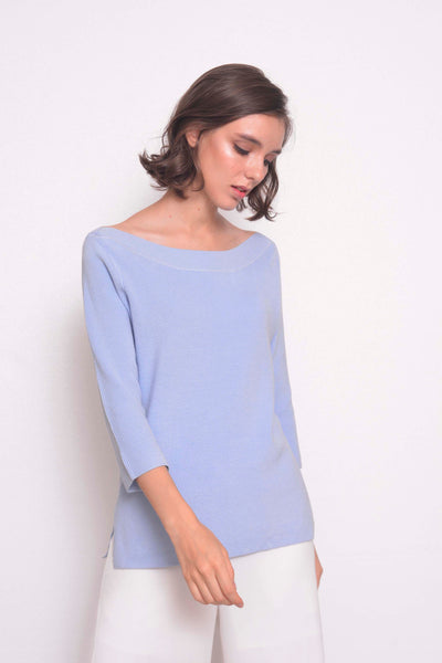 KNIT-Karla Top in Blue