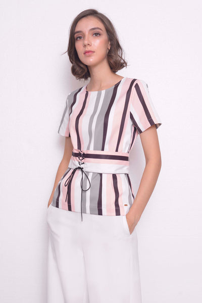 COLLECTIONS-Luciana Blouse in  LT.Pink