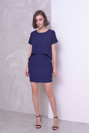 COLLECTIONS-Avarie Dress in  Navy