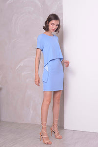 COLLECTIONS-Avarie Dress in LT.Blue