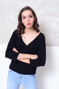 Knit- Essential knit cardigan in black