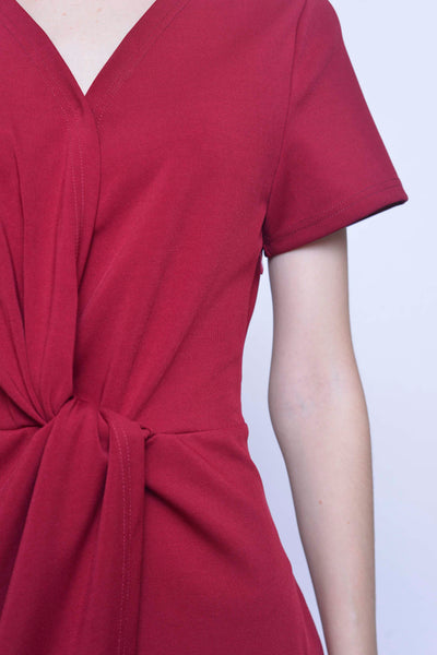 COLLECTIONS-Martina Dress in Maroon