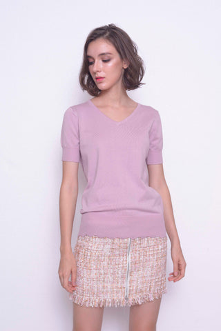 KNIT-Aela Top in Pink