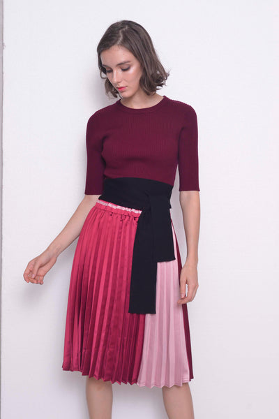 COLLECTIONS-Zelda Skirt in in  Maroon