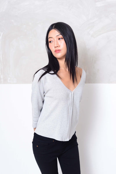 Knit- Essential knit cardigan in grey