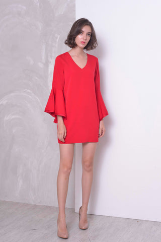 BASICS-Layla Dress in Red