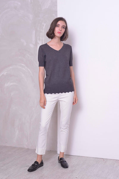 KNIT-Aela Top in Grey
