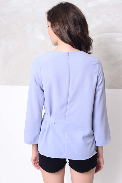 Basics-Naeva Top in  Blue