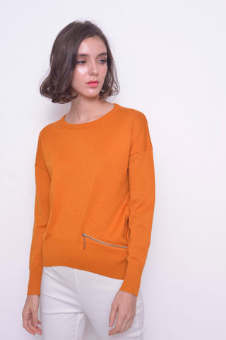 KNIT-Vanda Top in Mustard