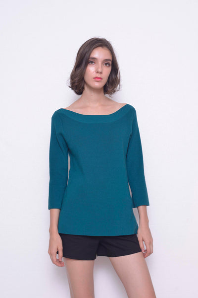 KNIT-Karla Top in Green