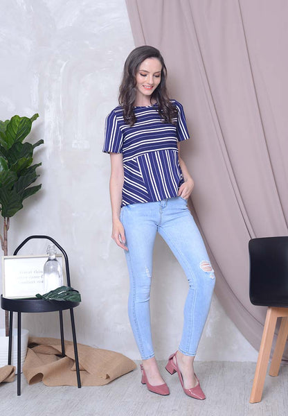 [BUY]Casual – Stripes Top in Navy
