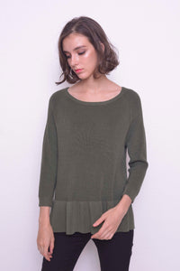 KNIT-Valda Top in Green