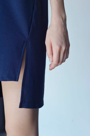 BASICS-Kayla Dress in Navy
