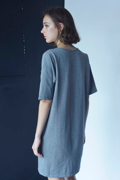 BASICS-Kayla Dress in Grey