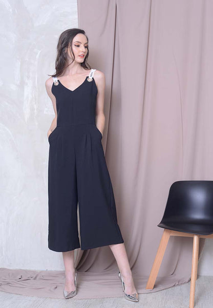 Collections -  Joeyl Logo Jumpsuit in Black