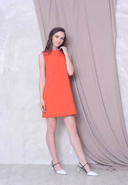 Collections - Joeyl Logo Dress in Red