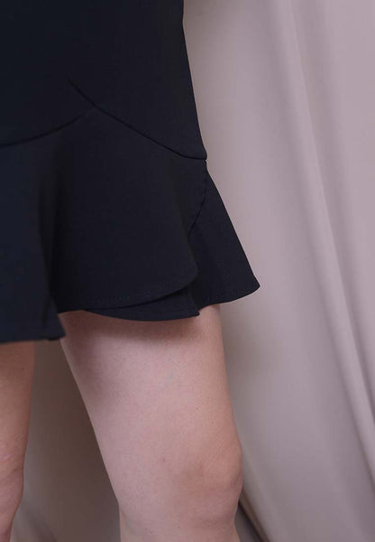 Ruffle Skort in Black