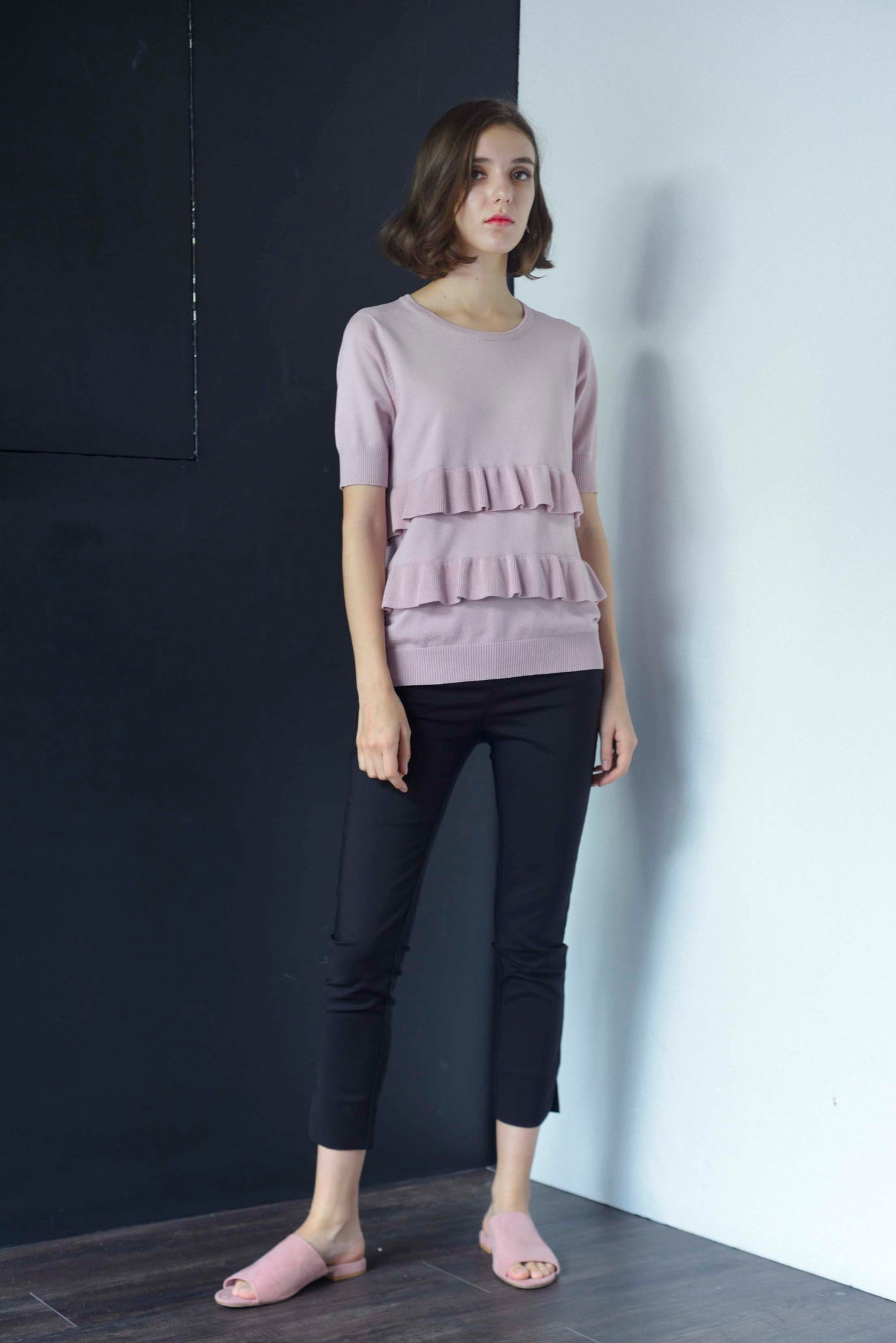KNIT-Drika Top in Pink