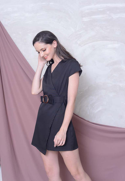 Casual – Overlap Dress in Black