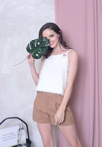 [BUY]Casual – Eyelet Crop Top in White