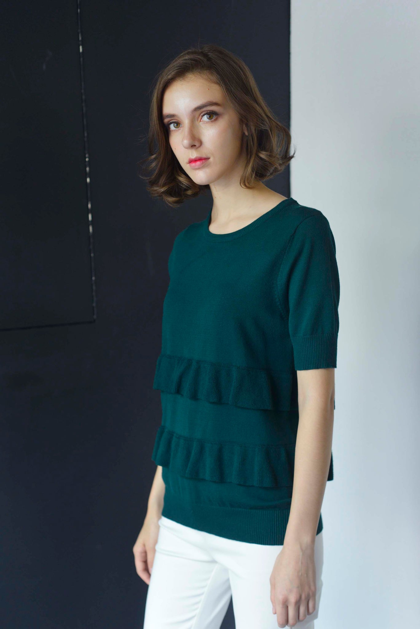 KNIT-Drika Top in Green