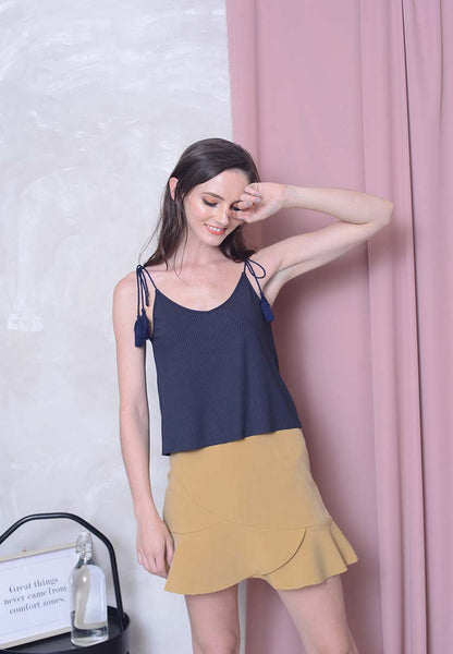 Casual – Tassel Camisole Top in Blue