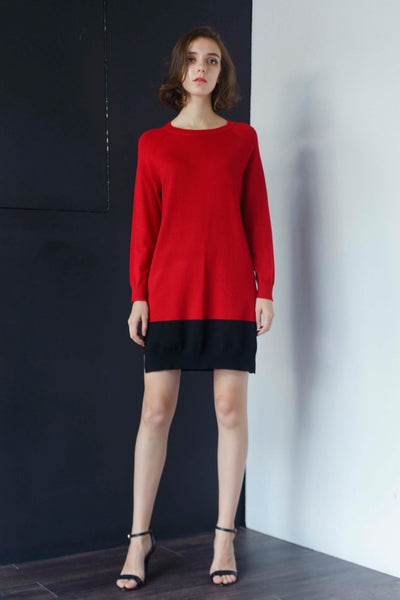 KNIT-Marlena Dress in Red