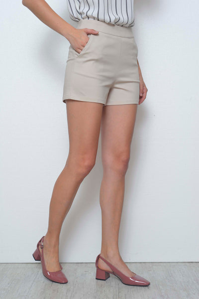 CASUAL-Laure shorts in Light.Brown