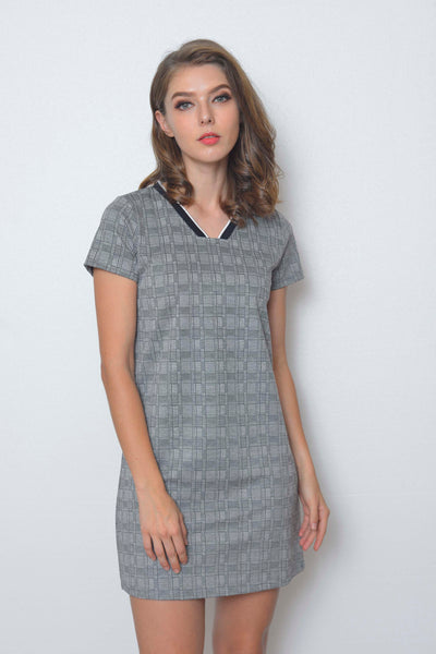 Casual-Cheval Dress in Black